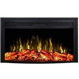 """Regal Flame 28"""" Curved Ventless Heater Electric Fireplace In"""