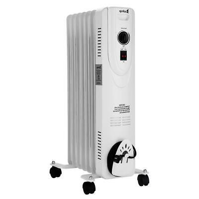 ZOKOP 1500W Filled Radiator 7-Fin with White