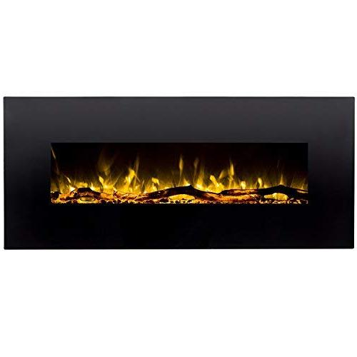 "Regal Flame Ashford 50"" Log Ventless Heater Electric Wall Better Than Fireplaces, Gas Fireplace Inserts, Space"