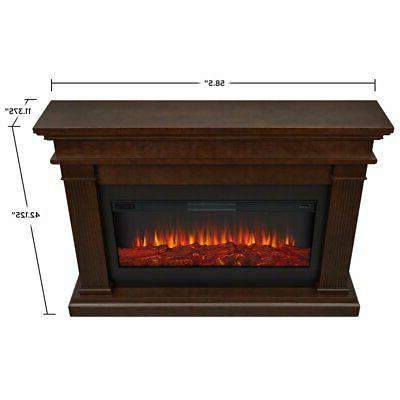 Real Fireplace in Dark