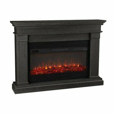 beau electric fireplace in gray