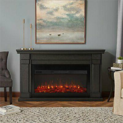 Real Fireplace Gray