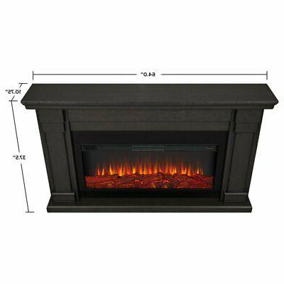 Real Flame Fireplace in Gray