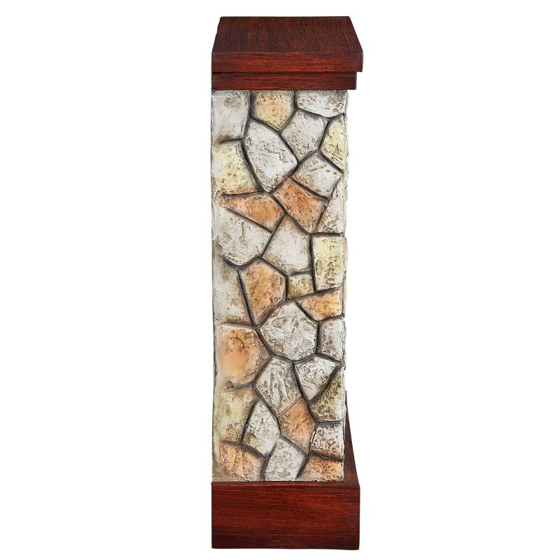Electric Fireplace Flame Stone Stand Wall