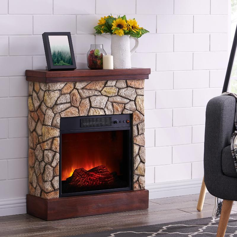 Electric Heater Real Flame Mantel Stand
