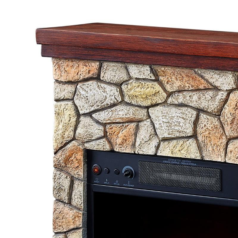 Electric Fireplace Real Flame Stone Stand