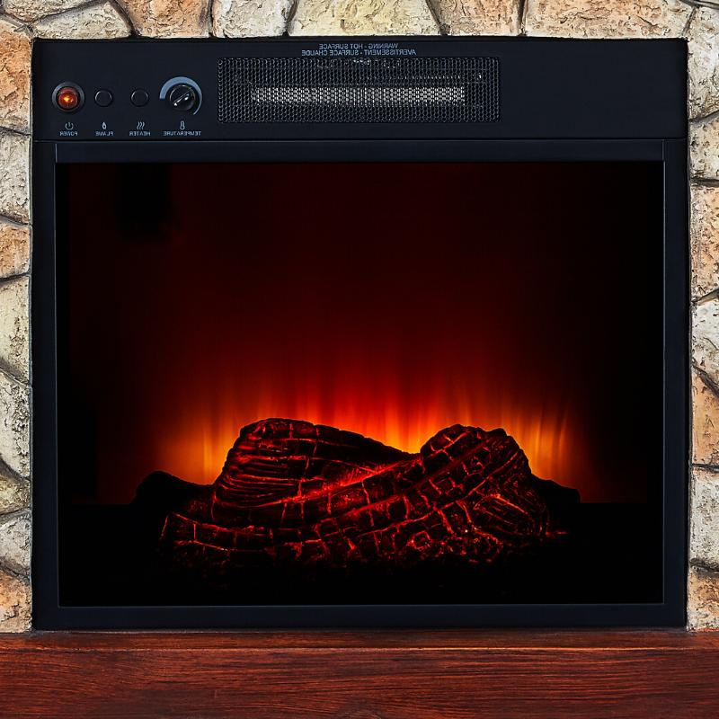 Electric Heater Flame Mantel TV Stand Wall Corner