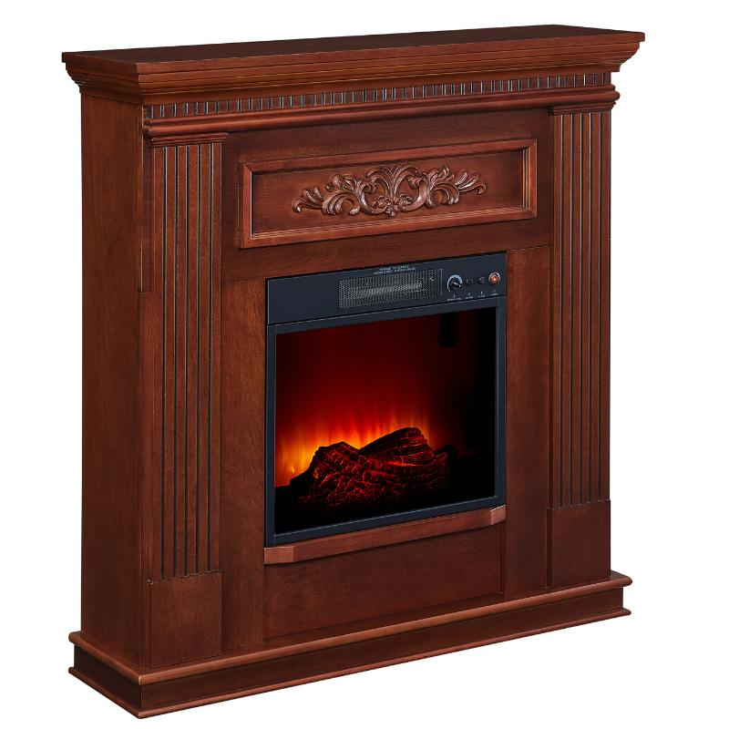 Electric Fireplace TV Stand Real Flame Log Mantel Realistic