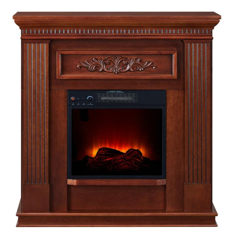 Electric Fireplace Heater Stand Real Flame Mantel Realistic Stove