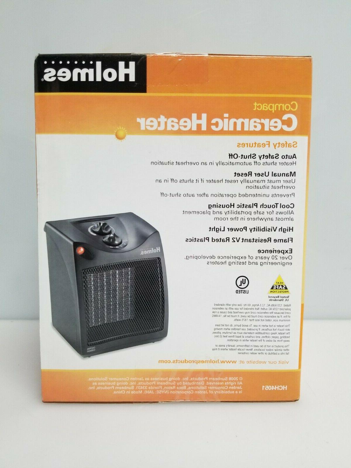 Holmes HCH4051 Compact Ceramic Desktop Forced Air, Black, NEW
