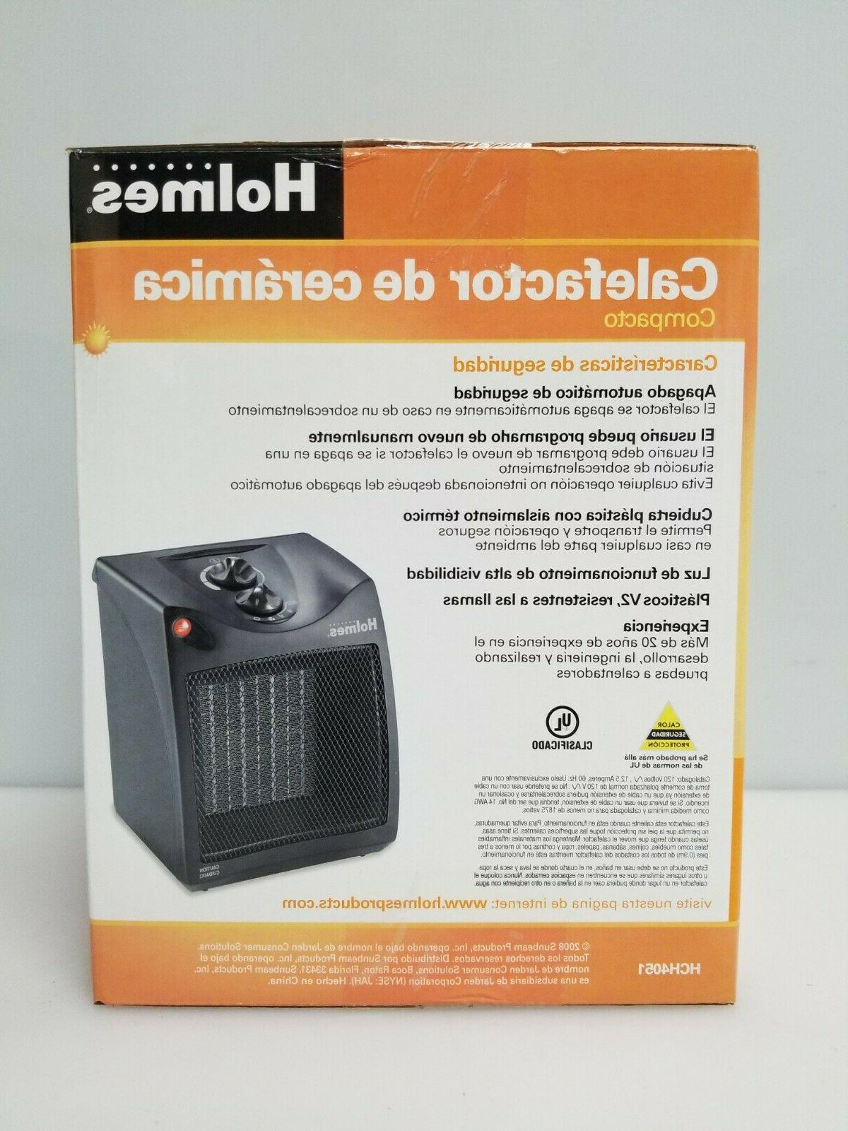 Holmes Ceramic Desktop Heater Fan Forced Air, Black,