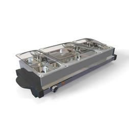 NutriChef PKBFWM35 Large Electric Hot Plate Buffet Server Fo